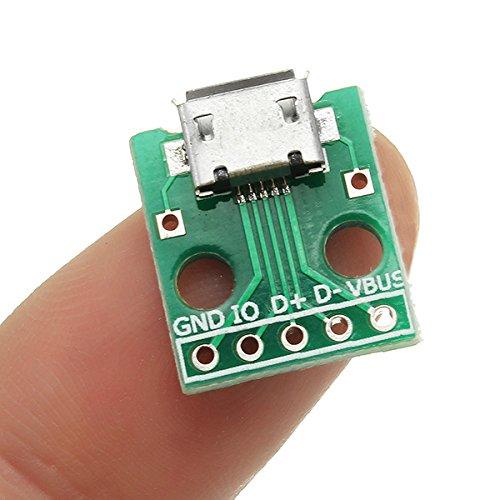 LaDicha Micro Usb Pour Tremper Femelle Socket B Type Microphone 5 P Patch Pour Tremper 2.54Mm Pin Avec Carte Adaptateur À Souder 50%OFF
