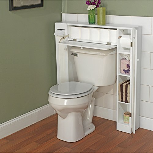 Simple Living Around The Toilet Storage Space Saver