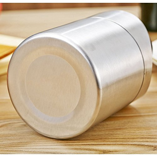 LOVEINUSA Mini Table Trash Can Recycling Brushed Stainless Steel Wave Cover Counter Top Garbage Bin