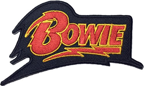 [David Bowie 10 x 6cm song Music ROCK N ROLL Punk Heavy Metal Band Logo Jacket Vest shirt hat blanket backpack T shirt Patches Embroidered Appliques Symbol Badge Cloth Sign Costume] (80s Rock N Roll Costumes)