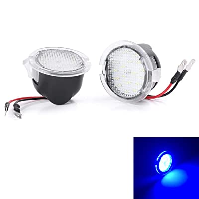 Mallofusa 2pcs High Power LED Puddle Lights Under Side Mirror Tow Compatible Fit for Ford F150 Raptor Explorer Fusion Edge Flex Expedition Mondeo Taurus Mustang Ranch Heritage (Blue): Automotive