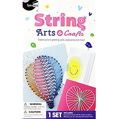 Spicebox Books Make & Play String Art Kit: SpiceBox: Toys & Games