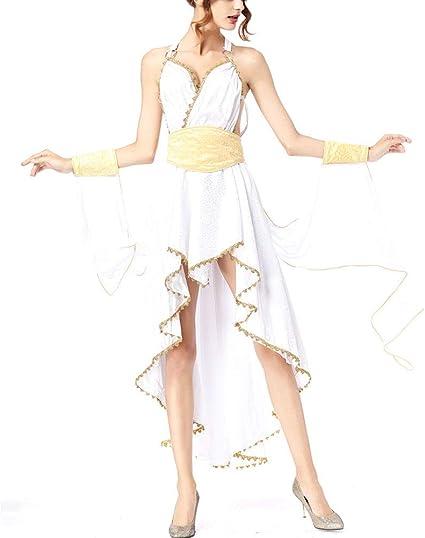 PAOFU Disfraz de Diosa de Mujer Adulta,Señoras Romano Diosa ...