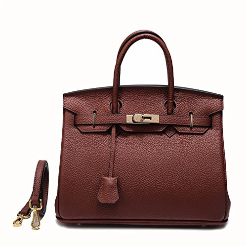 Simple Women's Totes Handbag Atmosphere Storage Shoulder Pattern Lychee Leather Ladies Xuanbao Tote Female Bags Crossbody Wild Bag Caramel Womens Hobo xaFqRwIY