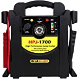 Solar Eclipse 1,700 Peak Amp Jump Starter With Air Compressor --- 425 Cranking Amps -- Portable Battery Booster