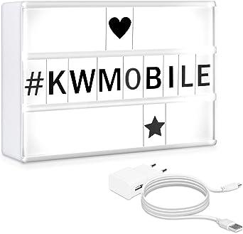 kwmobile Caja de luz cinematográfica LED A5 - Panel de luz con 126 ...