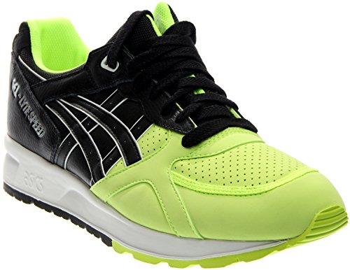 ASICS GEL Lyte Speed Retro Running Shoe, Safety Yellow/Black, 8 M US