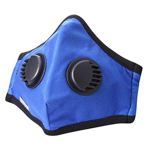 Anti Pollution Mask Washable Dust Mask Unisex Cotton Mouth Respirator Muffle with Adjustable Straps PM 2.5 Anti Pollution for Allergy / Asthma / Travel / Cycling