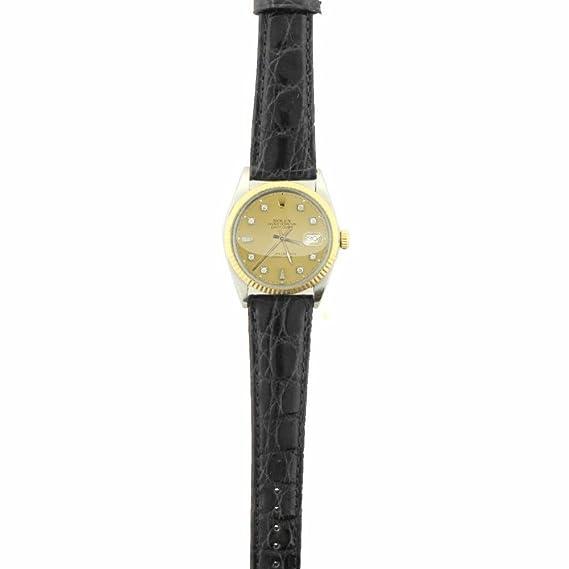 Rolex Datejust - Reloj analógico de cuarzo macho 16013 (certificado de autenticidad)
