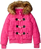 Steve Madden Little Girls' Fashion Outerwear Jacket (More Styles Available), Yarn Dye Print/Hot Pink, 5/6