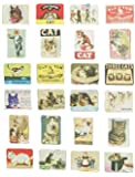 brave love 24-pcs Magnetic Fridge Magnets Refrigerator Sticker Scenery Home Decoration Animal Classic cars Accessories Magnetic Paste Arts/Crafts (Cat)