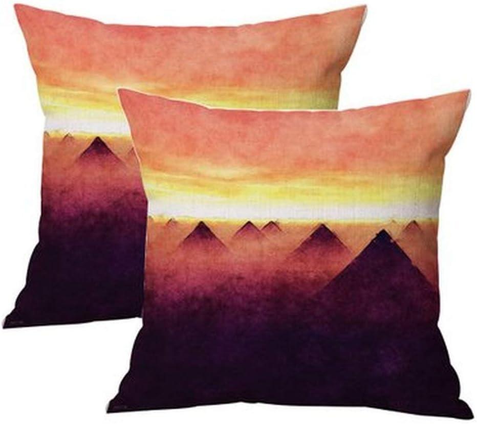 Forest landscape wind pillow car sofa lumbar cushion cushion cover 45 * 45cm