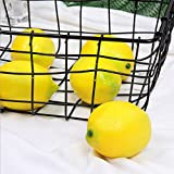 CEWOR 15pcs Fake Fruit Lifelike Lemons Simulation