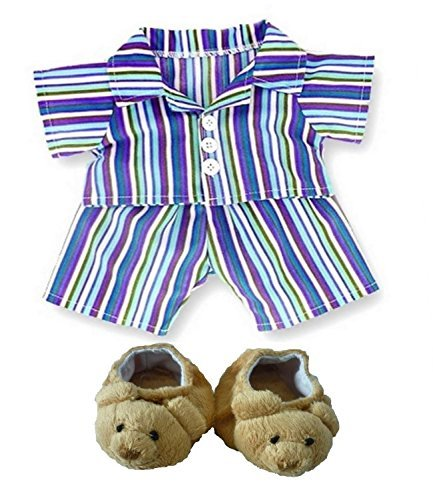 Bear Purple Stripe PJ