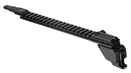 UTG PRO AK47 19-Slot Low Pro Picatinny Rail, QD, Rear Sight