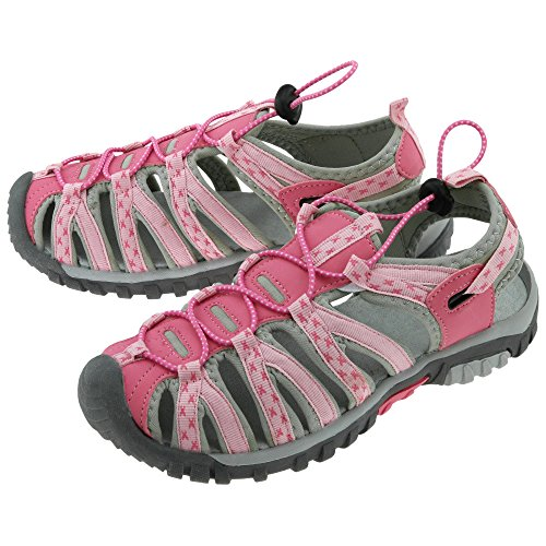 Path to Pink Sport Sandals (8, Gray/Pink)