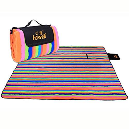 Rainbow Rest Mat (Hewolf Camping Picnic Blankets Mat (coloful rainbow, 79'' x 79''))