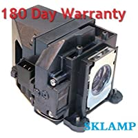 Sklamp ELP-LP57 / V13H010L57 Replacement Lmap Bulb with Housing for Epson EB-450W EB-460 and Bright Link 450WI Projectors