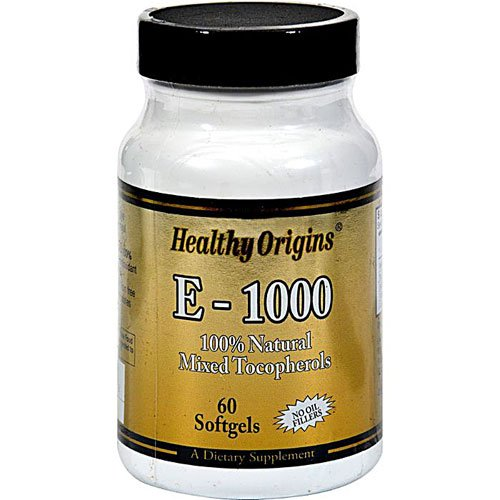 Healthy Origins E-1000 -- 1000 IU - 60 Softgels - 3PC by Imperial Elixir