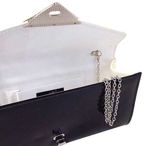 Patent JNB Leather Faux Clutch Ivory Block Color Rf5p8qf