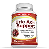 Uric Acid Support, Cleanse & Kidney Function Control – Supports A healthy Natural Gout Inflammation -- Includes Tart Cherry, Celery Seed Extract