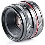 35 F1.6 macro shooting high definition lens with muti-coating glass red circle for SONY Alpha A7S A7R A7 Mark II A7 II A6000 A5100 A5000 A3000