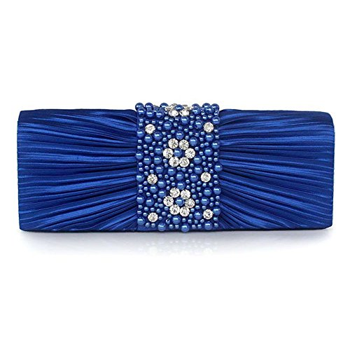 Multi pour Bleu femme color Pochette UNYU clutch evening w1tnq6SX