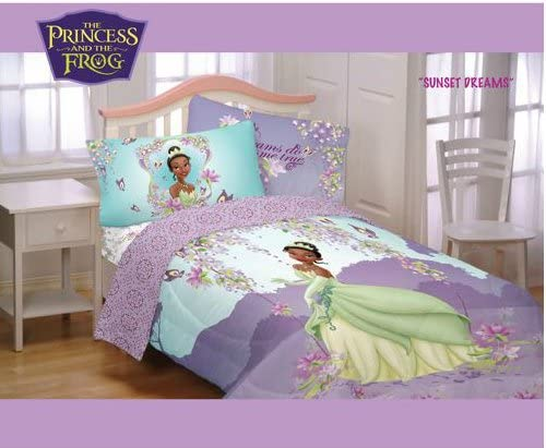 Amazon Com Disney Princess Frog Sunset Dreams Full Bedding Set Comforter And Sheets Bed In Bag Home Kitchen