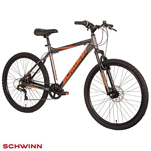 Schwinn Surge 26' Mountain Bike - Graphite, Orange & Black, 17' Aluminium frame with Disc Brakes