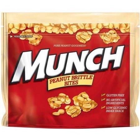 Munch Peanut Brittle Bites, 8 oz Artificial Peanut Brittle
