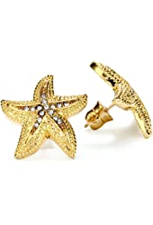 "ABS By Allen Schwartz ""Cruise Control"" Gold Tone Starfish Earrings"