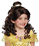 UHC Girl's Beauty Beast Belle Wig Princess Theme Party Child Costume Accessory