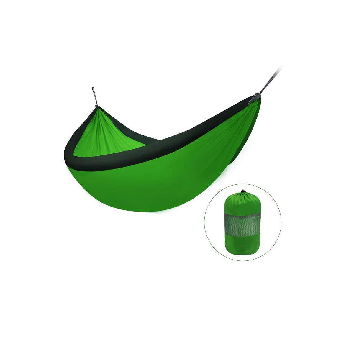Huijunwenti Premium Outdoor Hammock - Large Double, Portable e Ultra Light (antiribaltamento) L'Ultimo Stile, Semplice (Colore   rosa)