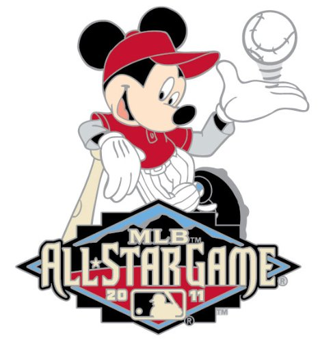 Game Pin Star All (2011 MLB All-Star Game Mickey Mouse Disney Pin)