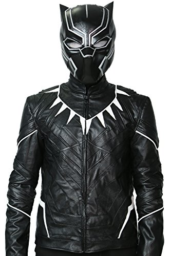 xcoser Black Panther Jacket Costume For Mens Halloween Cosplay