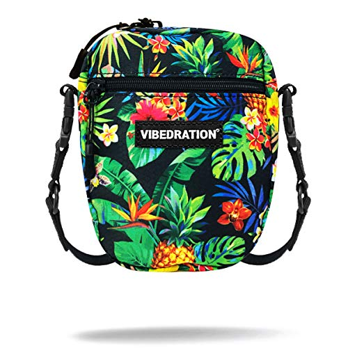 Vibedration Mini Messenger Festival Bag | Small Unisex Crossbody Sling Pack (Tropical Fuzion)