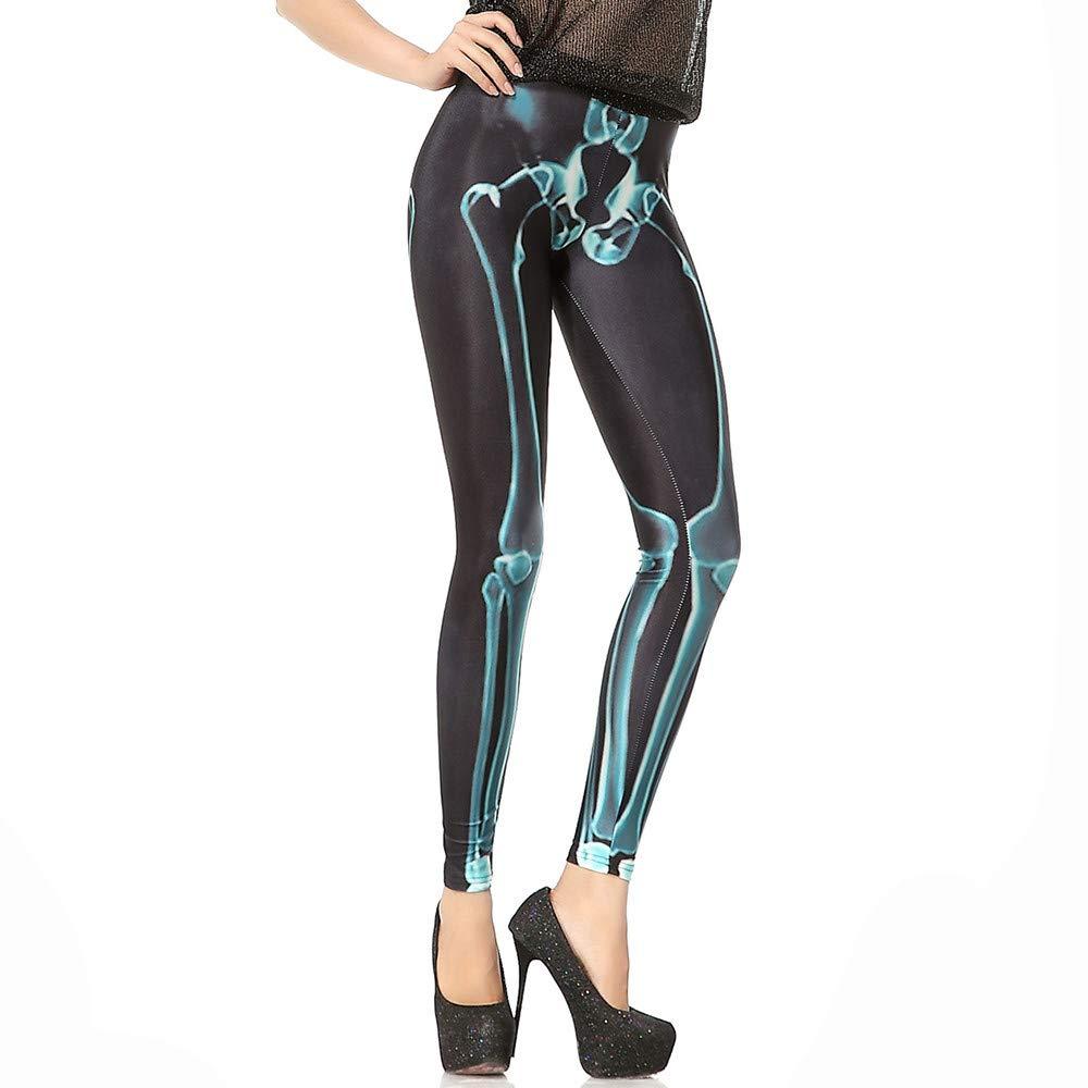 cinnamou Pantalon Mujer Halloween, Yoga Leggins Pantalones ...