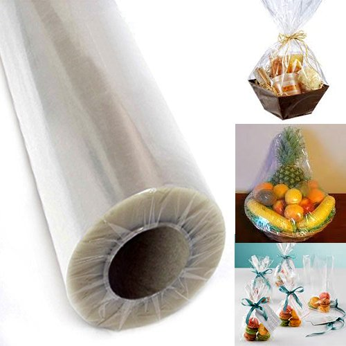 "Adorox 30"" Inch 100' Ft Clear Cellophane Wrap Roll Gift Basket Arts and Crafts"