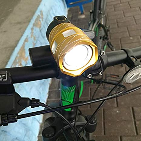 letaowl Luces Bicicleta Impermeable T6 Led Bicicleta Bicicleta luz Faro de la antorcha de la lámpara con USB Recargable Ciclismo luz Trasera: Amazon.es: Deportes y aire libre