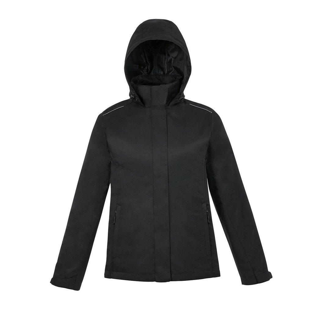 Ash City Ladies Core 365 Region 3-In-1 Jacket with Fleece Liner (X-Small, Black)