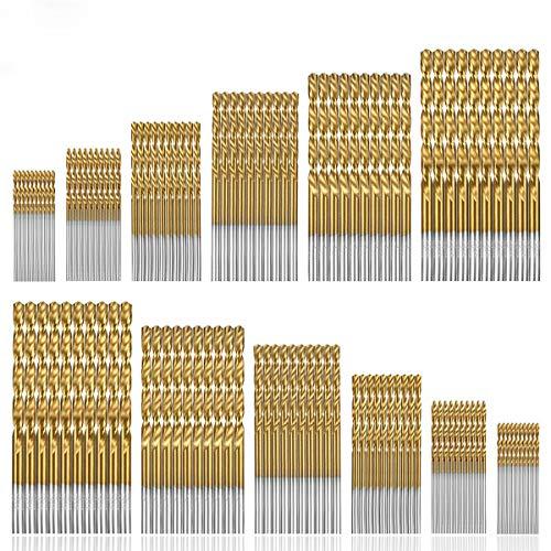 120 Piece Twist Drill Bit Set by Sibaok, Upgrades HSS Shank Steel Micro/Mini Drill Bits with Titanium Plated, for Wood, Plasticl Bits, Soft Metal, Steel, Aluminum Alloy, Precision 1/1.5/2/2.5/3/3.5 mm