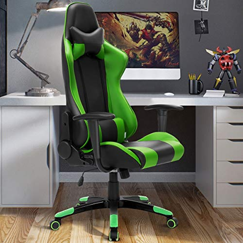 High Back Racing Style Gaming Chair Reclining Office Executive Task Computer Apontus