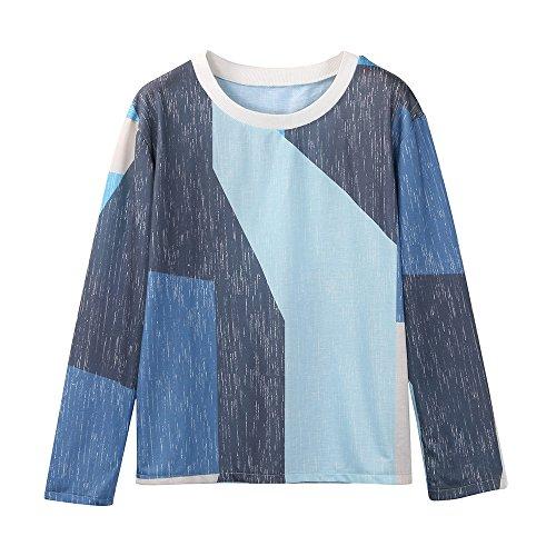 TJ Mall ベストセラー女性のOネックシャツ長袖スウェットカラーマッチングプリントシャツスポーツシャツTシャツ