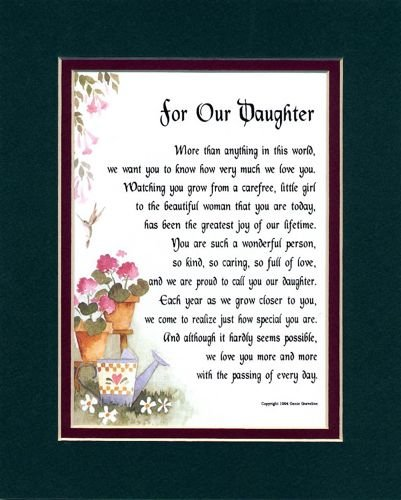 A Present Poem 18th 21st 30th 40th 50th 60th Birthday Gift For Daughter 48