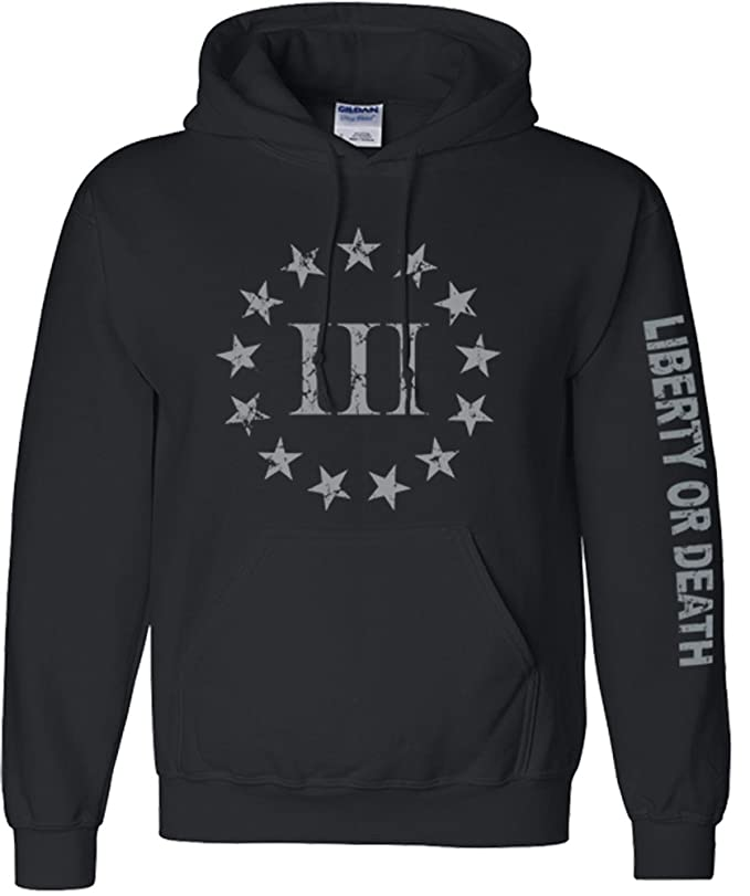 Black Three Percenter Hooded Sweatshirt