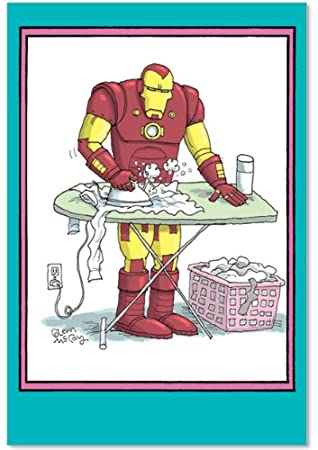 Ironing iron man birthday mother funny greeting card amazon ironing iron man birthday mother funny greeting card bookmarktalkfo Images