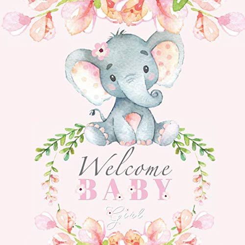 Welcome Baby Girl: Elephant Baby Shower Guest
