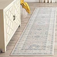 Safavieh Archive Collection ARC671A Vintage Grey and Blue Distressed Runner (22 x 8)