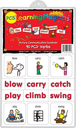 Action Magnet - Barker Creek - Office Products Learning Magnets, 90 Pieces Verbs (LM-3000)