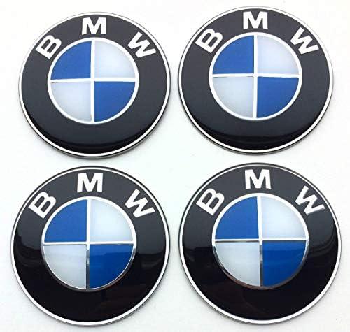 Set di 4 emblemi adesivi 65mm per tappi di cerchioni copriruote copricerchi coprimozzi BMWauto